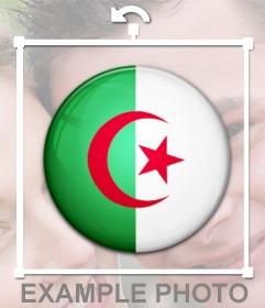 Bandera de Algeria para insertar en tus fotos