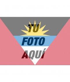 Bandera de Antigua y Barbuda para poner en tu foto de redes sociales