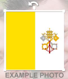 Bandera de la ciudad del Vaticano que puedes poner en tus fotos