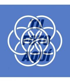 Bandera del planeta Tierra que simboliza la paz y la unión de los pueblos para poner en tu foto de perfil
