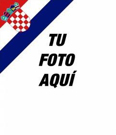 Efecto de bandera de Croacia en una esquina de tus fotos gratis