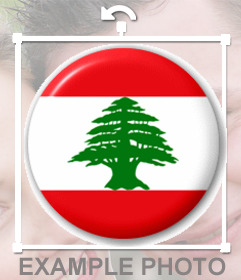 Chapa con la bandera de Libano para poner en tu foto de perfil de Facebook o Twitter