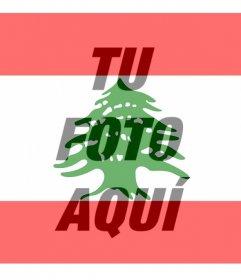 Bandera del Libano para poner en tu foto de perfil de redes sociales