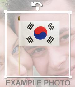 Bandera de Corea del Sur que puedes añadir en tus fotos con este efecto online