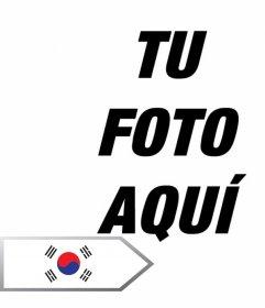 Foto montaje para añadir una flecha con la bandera de Corea del Sur