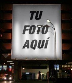 Fotomontaje para poner tu foto en un cartel que puedes hacer online