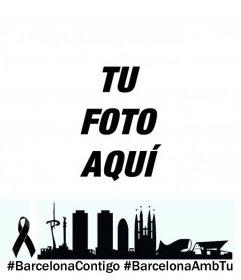 Pon tu foto junto al skyline de barcelona y los hashtags @barcelonacontigo @barcelonaambtu para apoyar a los barceloneses