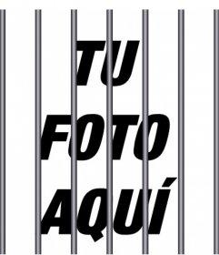 Barras de acero para añadir encima de tus fotos para dar un efecto de cárcel