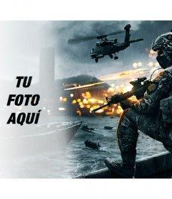 Fotomontaje del videojuego Battlefield con tu foto