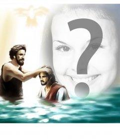 Imagen para añadir tu foto con Juan Bautista y Jesus Cristo