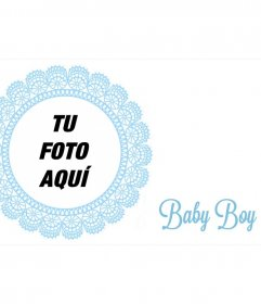 Marco postal para felicitar el nacimiento de un niño
