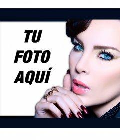 Foto efectos con la cantante mexicana Belinda