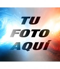 Añade a tu foto este filtro online de luz roja y azul y edita tu foto