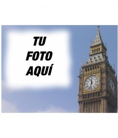 Fotomontaje para hacer una postal con el Big Ben de Londres, personalizada con tu foto. Acabado profesional y fácil edición a través de esta página