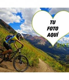 Fotomontaje Love Bike con tu foto y este precioso paisaje de fondo