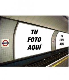 Fotomontaje para poner las dos fotos que tu quieras en unos anuncios en el metro