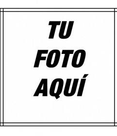 Sencillo marco para fotos de lineas finas de color negro