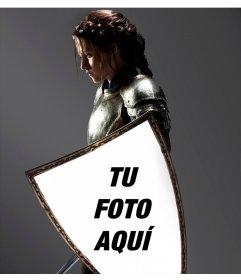 Fotomontaje con Kristen Stewart en Blancanieves, plasmado en su escudo