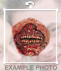 Boca de zombie para añadir a tus fotos y crear un efecto