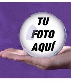 Añade tu foto dentro de una bola mágica de cristal con este montaje online