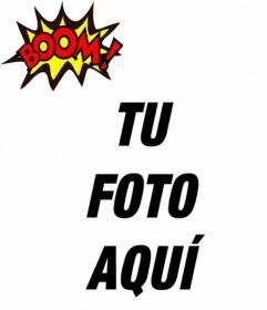 Efecto para fotos BOOM! para poner en tu foto online!