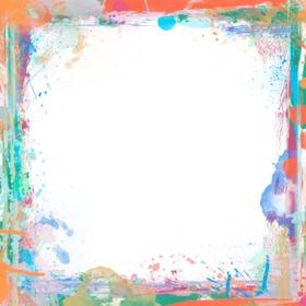 Marco para fotos con brochazos de pintura de colores