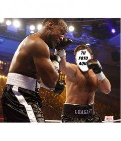 Fotomontaje donde podrás convertirte en un boxeador online