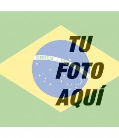 Poner la bandera de Brasil junto en tu foto online