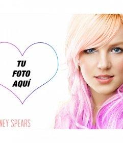 Pon tu foto junto a la famosa cantante Britney Spears