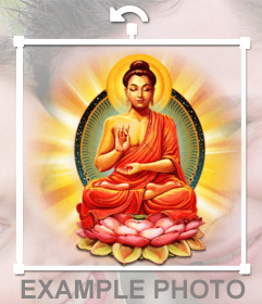 Poner a Buda en tus fotos con este sticker online
