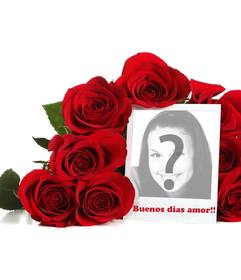Collage de Buenos días amor con una foto personalizable