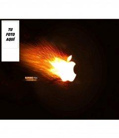 Fondo de pantalla para twitter de apple echando chispas. Personalizable con tu foto