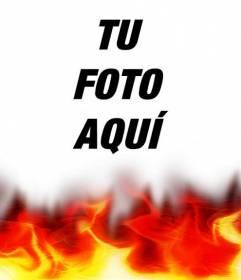 Efecto para foto de foto ardiendo. Ideal para tu foto de perfil