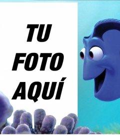 Montaje personalizable con Dory de buscando a Nemo