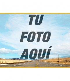 Cabecera para Facebook para crear un collage en el cielo de esta foto con una carretera y superponer una foto que subas online