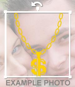 Cadena de oro Thug life