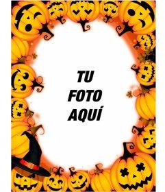 Marcos para fotos con calabazas de Halloween