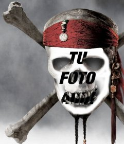 Fotomontaje de calavera de pirata para poner la foto de tu cara