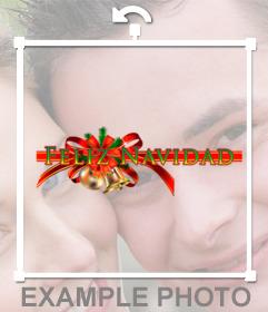 Guirnalda decorativa con la frase FELIZ NAVIDAD que puedes añadir en tus foto