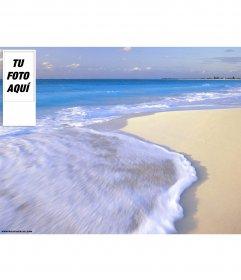 Fondo de playa para twitter. Para personalizarlo con tu foto