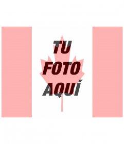 Bandera de Canadá montaje para poner en tu foto