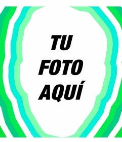Foto efecto para añadir tu cara con ondas de color verde