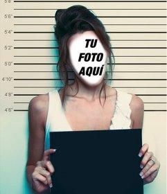 Pon tu cara en esta imagen de una mujer detenida por la policía