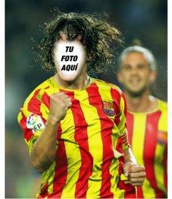 Pon tu cara a Carles Puyol con este fotomontaje gratuito