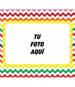 Marco con forma de carta para poner tu foto con muchos colores