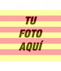 Bandera de Catalunya para poner en tu foto