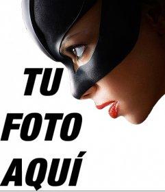 Fotomontaje de Catwoman para poner una foto junto a ella