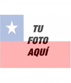 Fotomontaje para poner la bandera de Chile