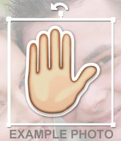 """Pegatina de la mano de """"Choca esos cinco"""" para añadir en tus fotos"""