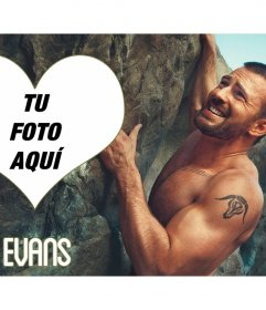 Marco de fotos con Chris Evans escalando